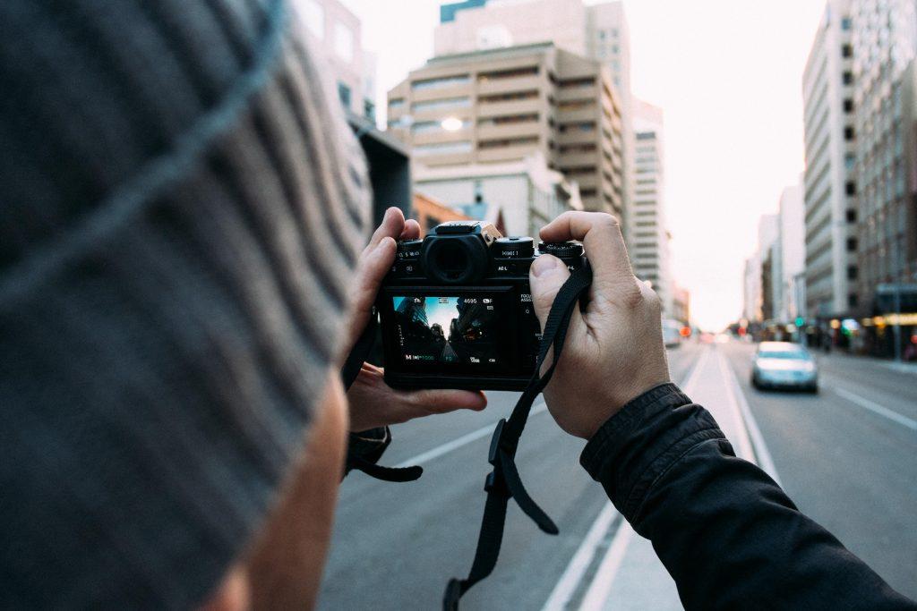 photographer taking photos of the skyline