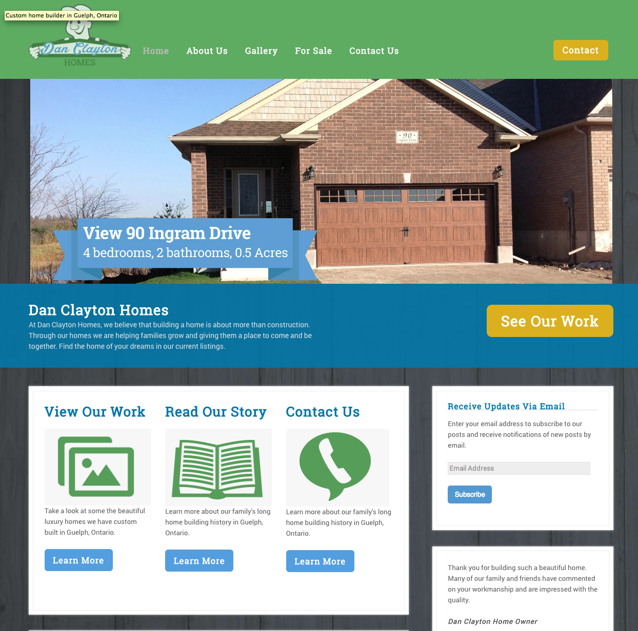 Dan Clayton Custom Homes Guelph Guelph Custom Homes