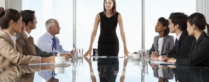 Young Female CEO Commands the Room