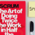 """Picture of a scrum book """"The art of doing twice the work in half the time"""""""