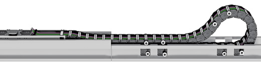 Roller supported chain provides a safe and reliable solution to high friction from Kabelschlepp Canada.
