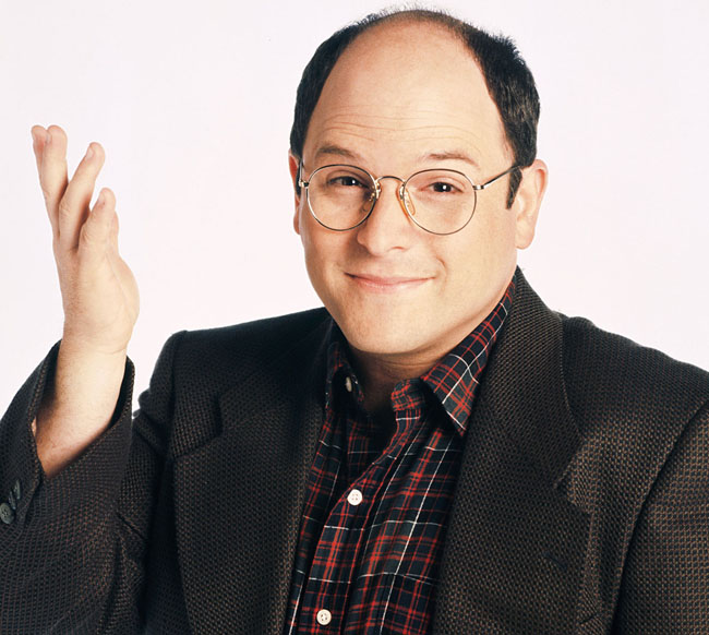 Seinfeld's George Costanza looks knowledgeable