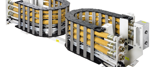 TOTALTRAX fully harnessed cable carrier systems as turn-key solutions from Kabelschlepp Canada.