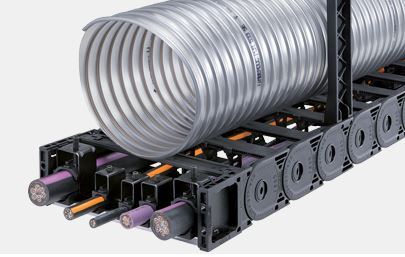 Uniflex Advanced plastic open style cable carrier from Kabelschlepp Canada.