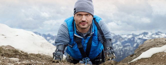 "Kyle Maynard is a mountain climber who asks ""are you brave?"""
